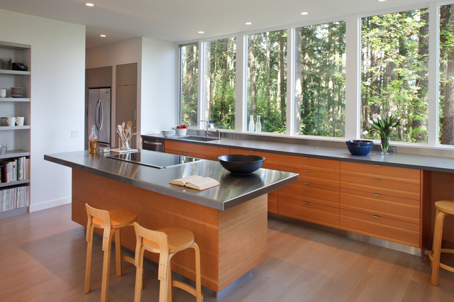 Best Rd Kitchen Island And Window Wall Contemporary Kitchen