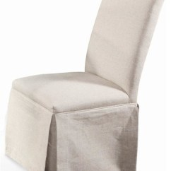 Parsons Chairs Adult Bath Chair Edison Skirted W Natural Linen Fabric Set Of 2 Dining By Shopladder
