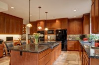 Kitchen with Island Stove Top - Contemporary - Kitchen ...