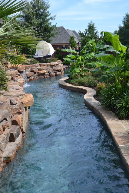 Colleyville Residential Lazy River  Tropical  Pool