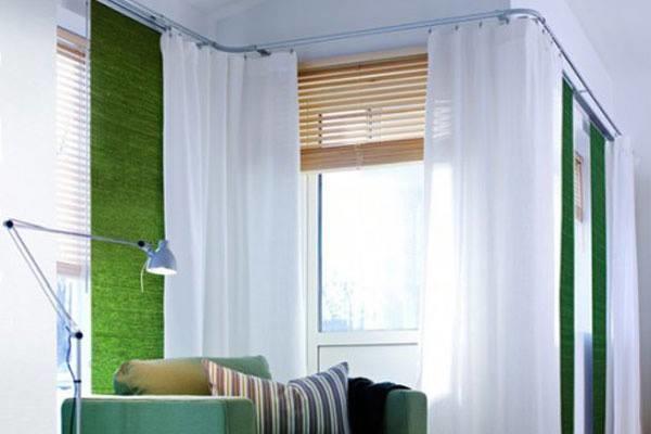 Corner Window FashionsBendable Curtain Rod  Modern