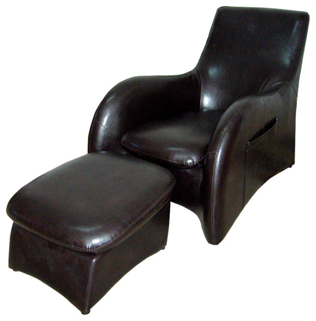 chair with leg rest india wwe tables and chairs leather lounge sofa separate brown transitional armchairs accent by ore international