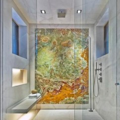 Outdoor Kitchen Houston Orlando Hotels With Full White Carrara And Backlit Onyx Shower