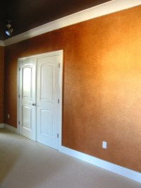 Copper Decorative Painted Wall Treatment - Contemporary ...