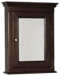 Traditional Birch Wood-Veneer Medicine Cabinet, Walnut, 22 ...