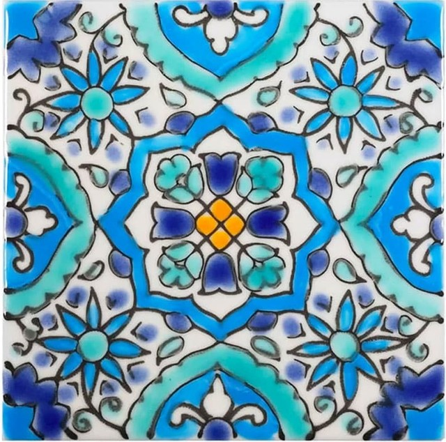4 x4 alhambra tile set of 180 turquoise mediterranean pool tiles