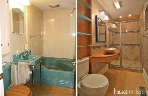 Before And After Removing The Tub And Replacing With A Shower