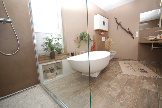 Das afrikanische Bad  Mediterran  Badezimmer  Kln  von INNEN LEBEN