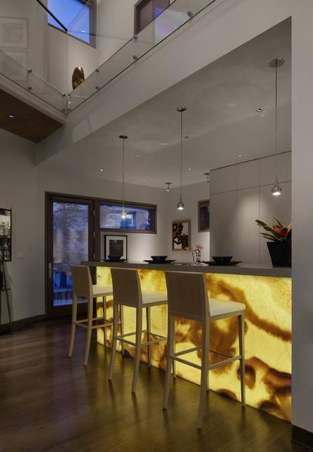 Backlit onyx Bar Front  Modern  Kitchen  Denver  by