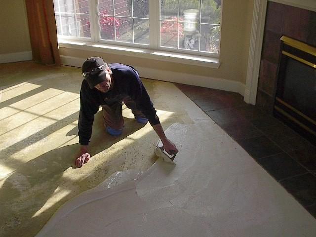 Commercial Carpet Installation - Glue-down carpet photos