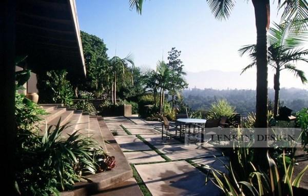 mid-century modern patio