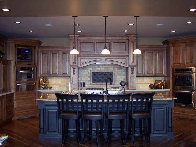 Knotty Alder Kitchen  Traditional  Kitchen  Omaha  by