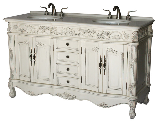 60 Antique Style Double Sink Bathroom Vanity Model 7660 B Victorian Bathroom Vanities And Sink Consoles By Chinese Arts Inc