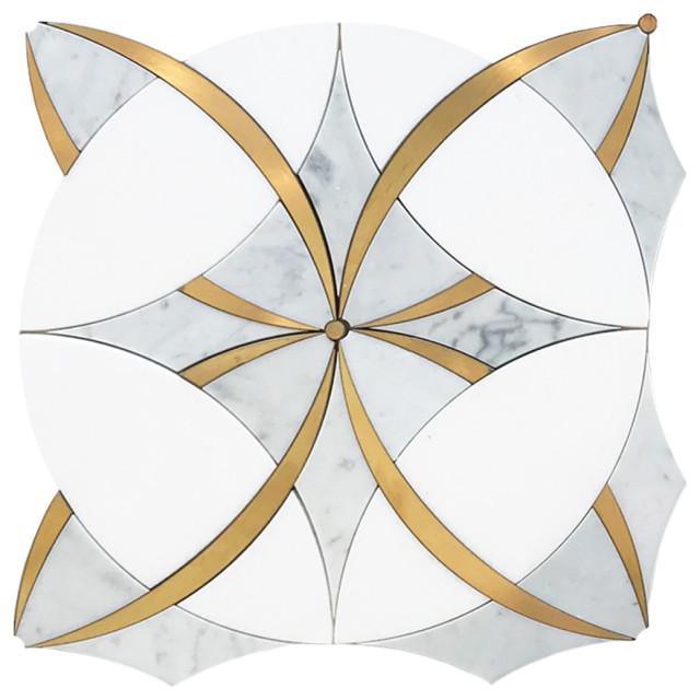 12x12 brass ring tile