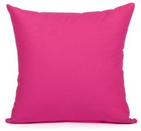 Silver Fern Decor - Solid Hot Pink Accent, Throw Pillow ...