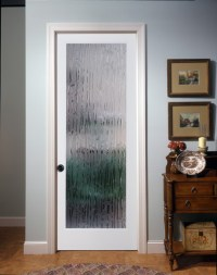 Bamboo Decorative Glass Interior Door