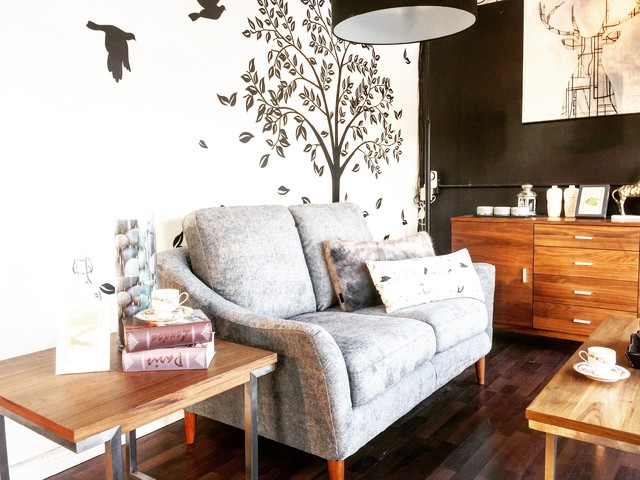 A Mid Century-Shabby Chic Living Space