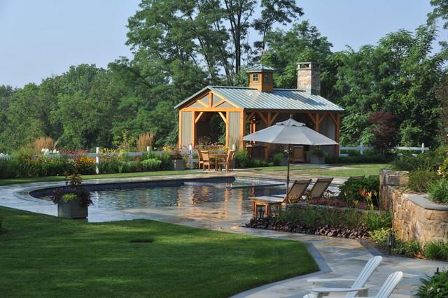 Gladstone NJ Farmhouse Pool New York By Edward Clark