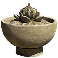 Smithsonian Lotus Garden Water Fountain - Asian - Outdoor ...