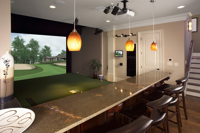 living room mini bar furniture design pictures of laminate flooring in rooms custom golf simulator for home or office - theater ...