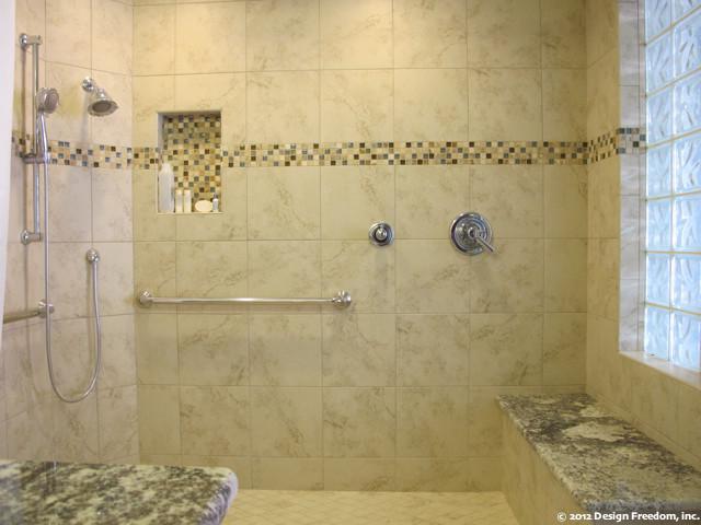 Master Bathroom with nostep shower  Modern  Bathroom