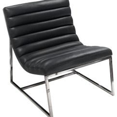 Steel Lounge Chair Cheap Vinyl Covers Bardot With Stainless Frame Contemporary Armchairs And Accent Chairs By Diamond Sofa