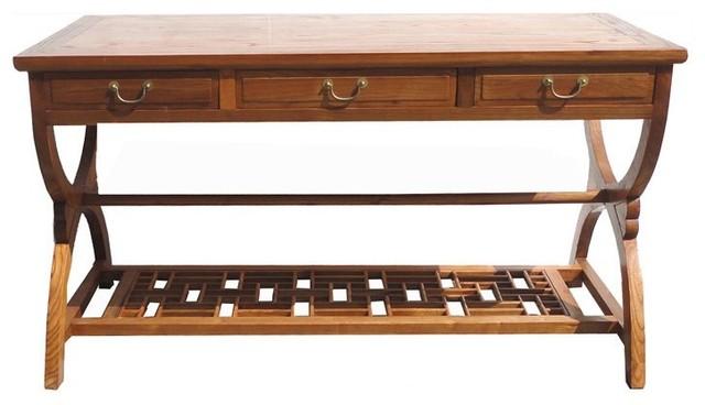Oriental Crossing Legs Writing Desk asiandesksandhutches