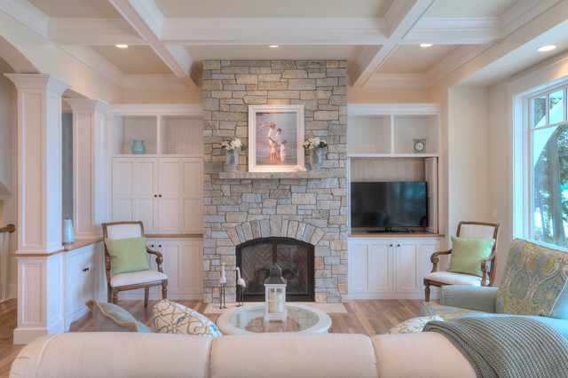 Classic Cottage  Beach Style  Living Room  Other  by