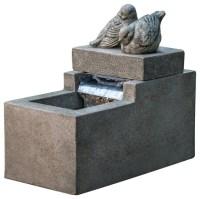 Mini Element With Birds Garden Terrace Fountain