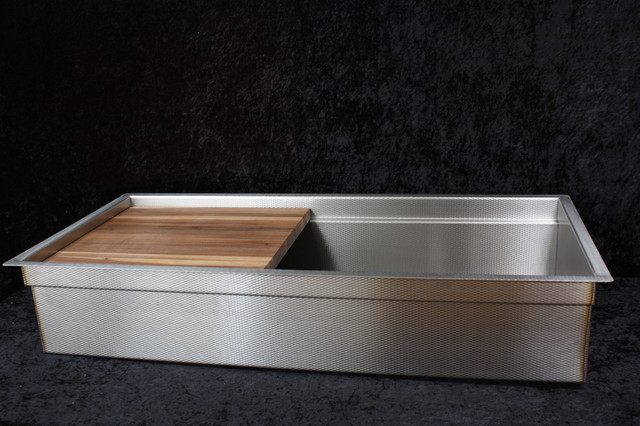 """Millennia Textured Stainless Steel """"Signature Sink"""" With"""