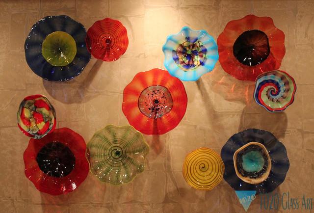 11 Art Glass Wall Plate Arrangement Omaha NE