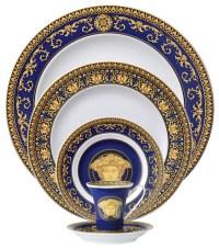 Versace Medusa Blue 5-Piece Place Setting - Dinnerware ...