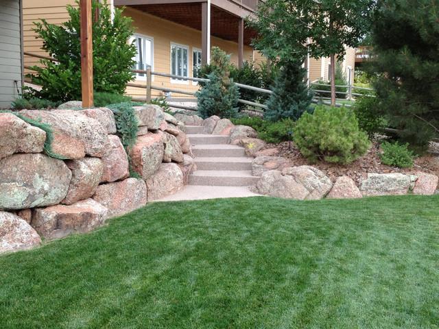 Moss rock landscape  Contemporary  Landscape  Denver  by Sierra Enterprises Inc