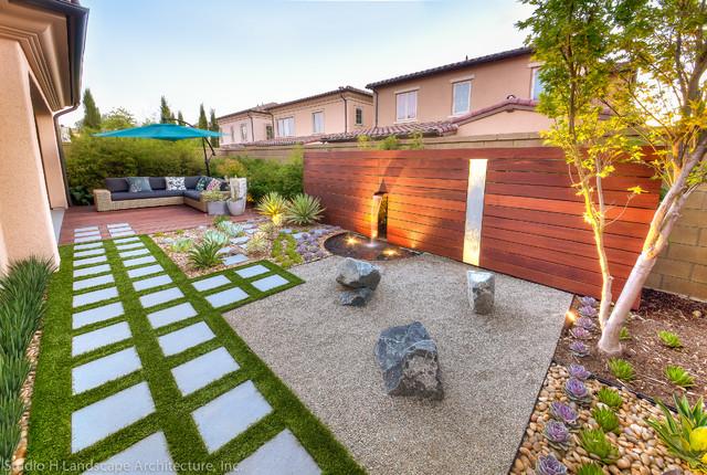 modern zen garden green design contemporary landscape orange county