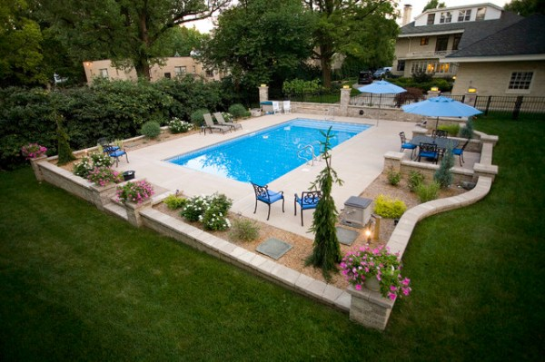 pool hardscape - contemporary