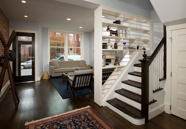 Rowhouse renovation  Transitional  Staircase  DC Metro