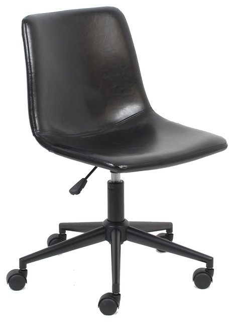 Business Industrial Executive Faux Leather Wood Swivel Office Desk Chair Rustic Mid Back Black Brown Chairs Stools Pu Seruyankab Go Id