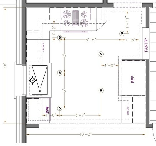 Help with Kitchen Lighting Layout