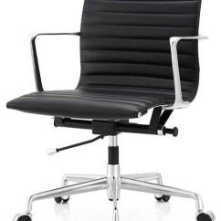 Office Chair Levers Dining Chairs With Wheels Alston Modern Black Italian Leather Contemporary By South First Home