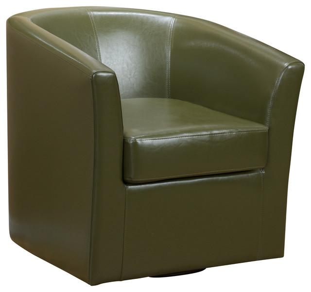 Shop Houzz  GDFStudio Corley Tea Green Leather Swivel