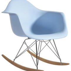 Arm Chair Rocker Dining Chairs Under 50 Fine Mod Imports Light Blue Modern Rocking By In Style