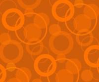 Raining Circles - Tangerine Wall Mural - Contemporary ...