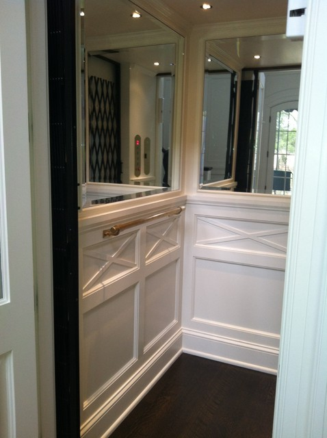 Classic Home Elevator  Wainscot and Mirrors  Nashville  by HomeLift Inc