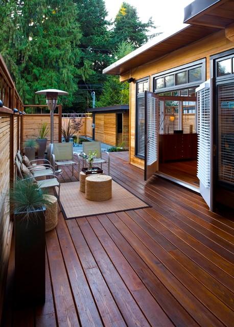 West Coast Zen  Asian  Deck  Vancouver  by CCI Renovations