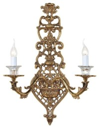 Vintage Style Elegant Brass Wall Sconce with Candles ...
