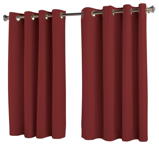 Elegance Insulated Short Length Grommet Panel Wine 54 X