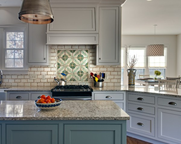 rustic french country kitchen backsplash French Provincial Style Backsplash - Rustic - Kitchen - Nashville - by Marcelle Guilbeau
