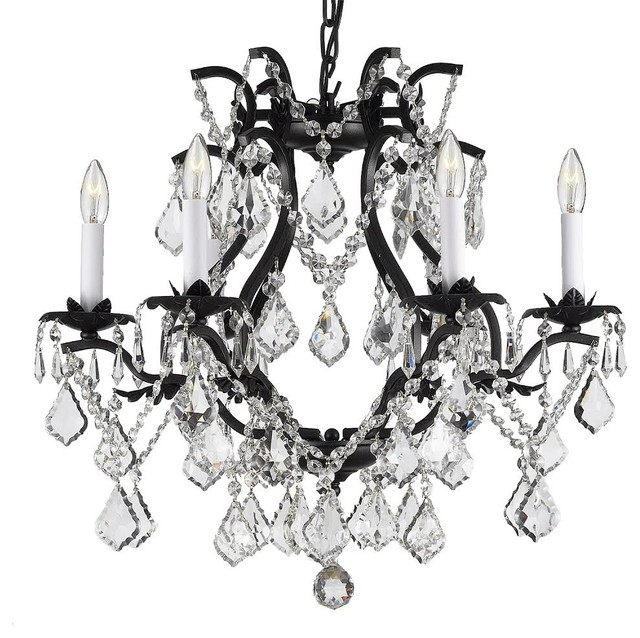 Wrought Iron Crystal Chandelier Swag Plug In Traditional Chandeliers