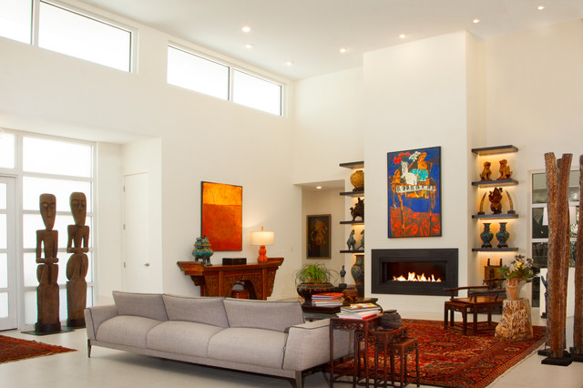Sarasota Zen House  Asian  Living Room  Tampa  by