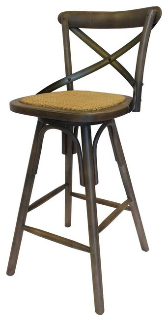 black cross back dining chairs patio high chair cushions shop houzz | artefac vintage style crossback bar stool - stools and counter